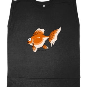 Cheeky Goldfish Ladies Flowy Rolled Cuff Muscle T-Shirt